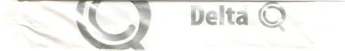 Stick Delta Q ( branco e letras prateadas )