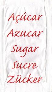 Castor - Açúcar em várias linguas (Vermelho)