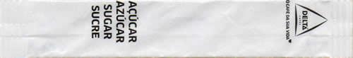 Stick Branco - Açúcar 4 línguas