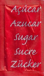 Castor - Açúcar em várias linguas (Vermelho/Prateado)