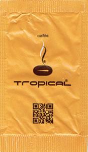 Cafés Tropical (Castanho e Amarelo - com QR Code)