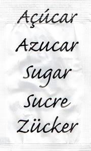 Castor - Açúcar em várias linguas (Branco/Preto)