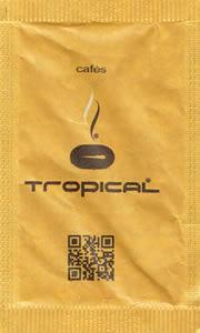 Cafés Tropical (Castanho e Amarelo - com QR Code - e.v.)