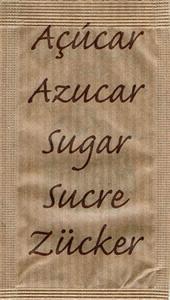 Castor - Açúcar em várias linguas (Demerara - Castanho)