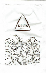 Delta Cafés - Planta com chávenas (branco)