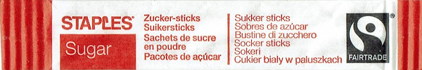 STAPLES Sugar - Stick