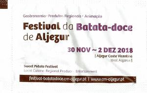 Festival da Batata-Doce - Aljezur 2018