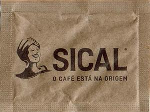 O café está na origem ( papel pardo - 60x45mm )